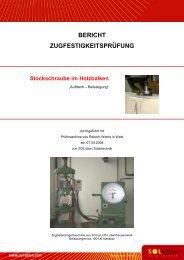 Stockschraube im Holzbalken - Solution Solartechnik GmbH
