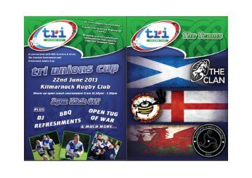 Tri-unions Cup rugby tournament, 22 June 2013 - NHS Ayrshire and ...