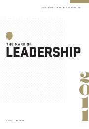 the mark of - Jefferson Scholars Foundation