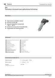 EF6 Transmisor de presión para aplicaciones ferroviarias - Baumer