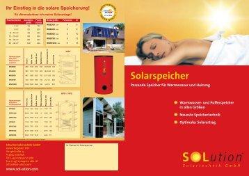 Solarspeicher - Solution Solartechnik GmbH