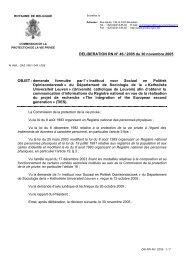 DELIBERATION RN N° 46 / 2005 du 30 novembre 2005 OBJET ...