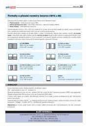 Formáty a přesné rozměry inzerce CMYK a MK - Svět tisku
