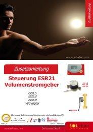 Zusatzanleitung Steuerung ESR21 Volumenstromgeber