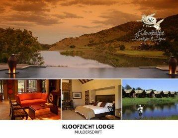 Brochure - Kloofzicht Lodge