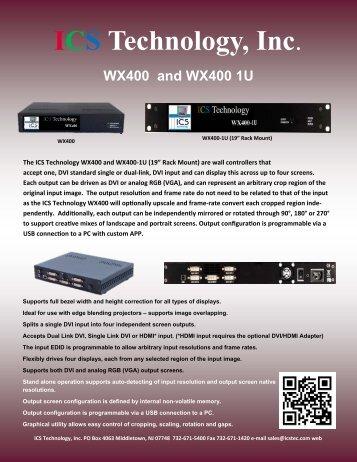 Download WX400 PDF brochure - ICS Technology