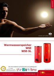 Warmwasserspeicher WSE WSE-SL