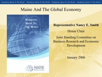 Maine And The Global Economy - State Agriculture and Rural Leaders