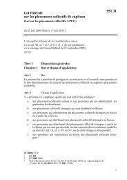 Loi fédérale sur les placements collectifs de capitaux ... - admin.ch