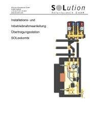 und Inbetriebnahmeanleitung Übertragungsstation SOLexkombi