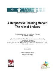 A Responsive Training Market: The role of brokers