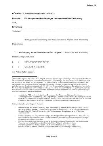 Seite 1 von 8 m4 Award - 2. Ausschreibungsrunde 2012/2013 ...
