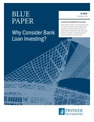 Why Consider Bank Loan Investing? - Pioneer Investments