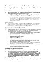 view document - Faculty of Veterinary Science - University of ...