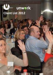 Client List 2012 - Unwired - Eu.com