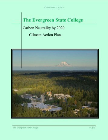 Climate Action Plan - The Evergreen State College