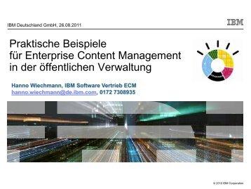 Praktische Beispiele für Enterprise Content Management in der ...