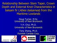Relationship Between Stem Taper, Crown Depth and External Knot ...