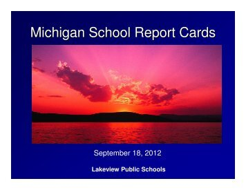 2011/12 Ed YES! AYP Presentation - Lakeview Public Schools