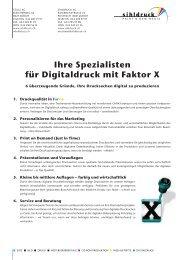 Ihre Spezialisten für Digitaldruck mit Faktor X