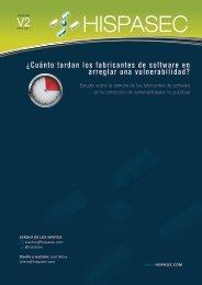 Estudio Comparativo de Vulnerabilidades - Hispasec