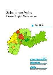 Creditreform Schuldneratlas_Metropolregion Rhein-Neckar 2010