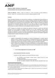 Commercialisation des instruments financiers ... - Maths-fi.com