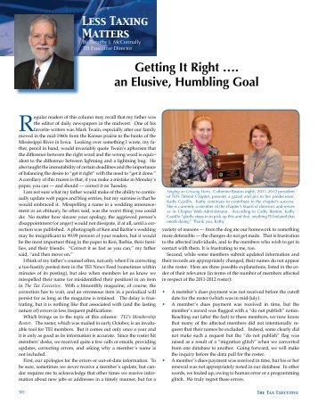 Getting It Right an Elusive, Humbling Goal.pdf - Tax Executives ...