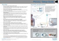 PiCCO ® Setup Guide - PULSION Medical Systems SE