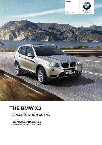 The bmw x3.