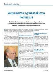 Valtuuskunta syyskokouksessa Helsingissä - Duodecim