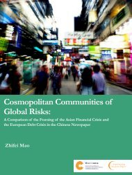 Cosmopolitan Communities of Global Risks: - The Chinese ...