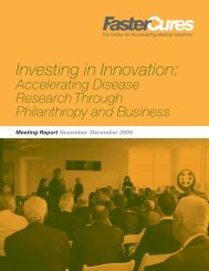 Investing in Innovation: - Train - FasterCures
