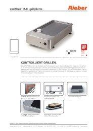 varithek® 2.0 grillplatte KONTROLLIERT GRILLEN. - rieber.at