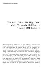 The Asian Crisis: The High Debt Model Versus the Wall Street ...