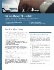 TRM RulesManager SE Essentials™ - Total Resource Management