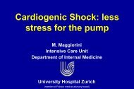 Cardiogenic Shock: less stress for the pump - PULSION Medical ...