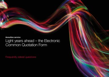 Light years ahead – the Electronic Common Quotation Form - Avelo