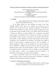 A Prática de Gestão do Conhecimento em Empresas Mineiras - Fiesc