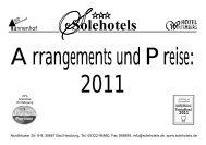 incl. freier Nutzung der benachbarten Harzburger ... - Sole Hotels