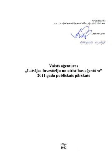 """Valsts aģentūras """"Latvijas Investīciju un attīstības aģentūra5 ... - LIAA"""