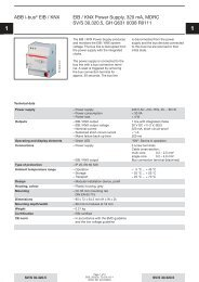ABB i-bus® EIB / KNX EIB / KNX Power Supply ... - Asennustuotteet