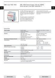 ABB i-bus® EIB / KNX EIB / KNX Power Supply ... - Asennustuotteet