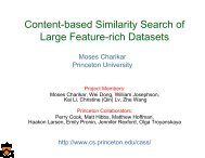 Content-based Similarity Search of Large Feature-rich Datasets