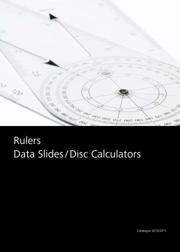 Rulers Data Slides / Disc Calculators - schreiner coburg