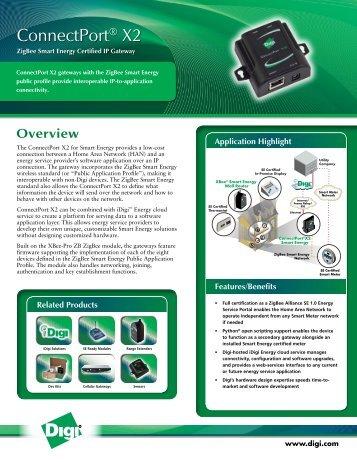 ConnectPort X2 ZigBee Smart Energy Certified IP Gateway ...