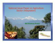 Nepal presentation on Agriculture Sector (Adaptation) - UNDPCC.org