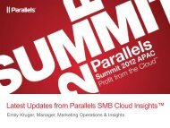 Latest Updates from Parallels SMB Cloud Insights™