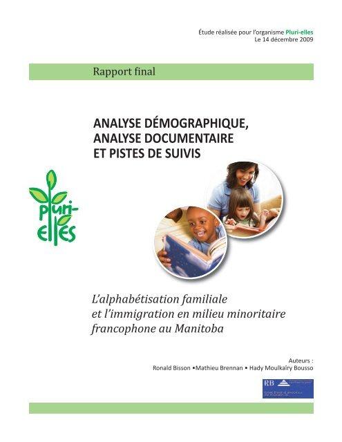 L'alphabétisation familiale et l'immigration en milieu - Base de ...