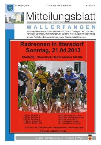 KW 16/2013 - Gemeinde Wallerfangen